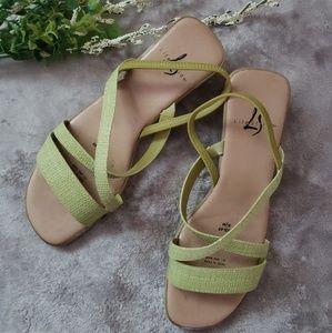 Life stride green sling back sandals. Size 8.5